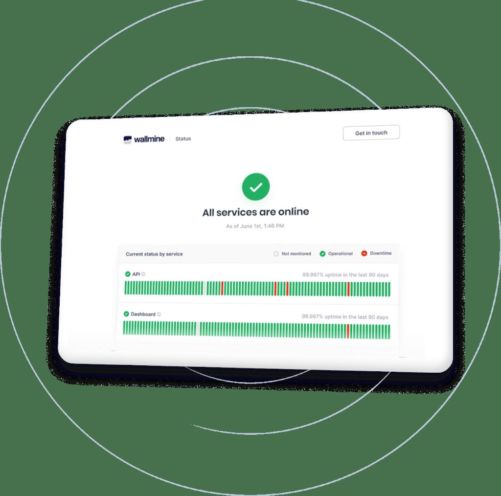 monitor web page status page